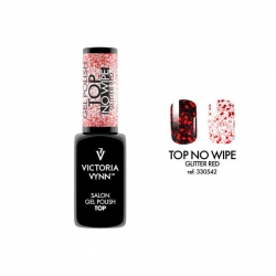 TOP bez przemywania TOP NO WIPE Glitter Red Victoria Vynn - 8 ml