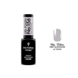 Lakier hybrydowy GEL POLISH COLOR Grey Quicksilver nr 156 - 8 ml